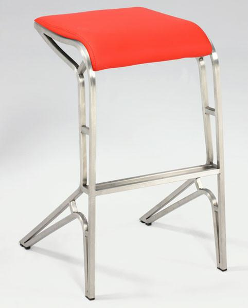 Chintaly 0568-BS-RED Backless Contemporary Bar Stool from Chintaly