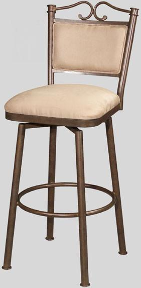 "Chintaly 0707-BS 30"" Memory Return Swivel Bar Stool from Chintaly"