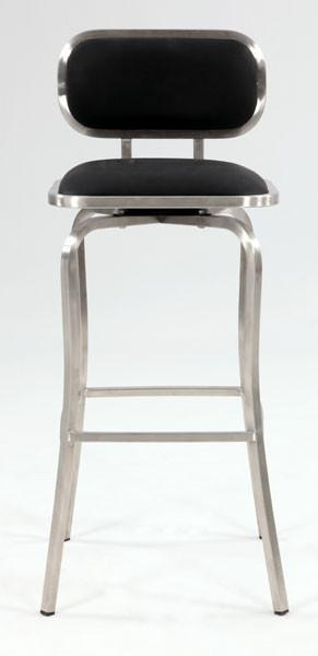 Chintaly 1192-BS-BLK Modern Swivel Bar Stool from Chintaly