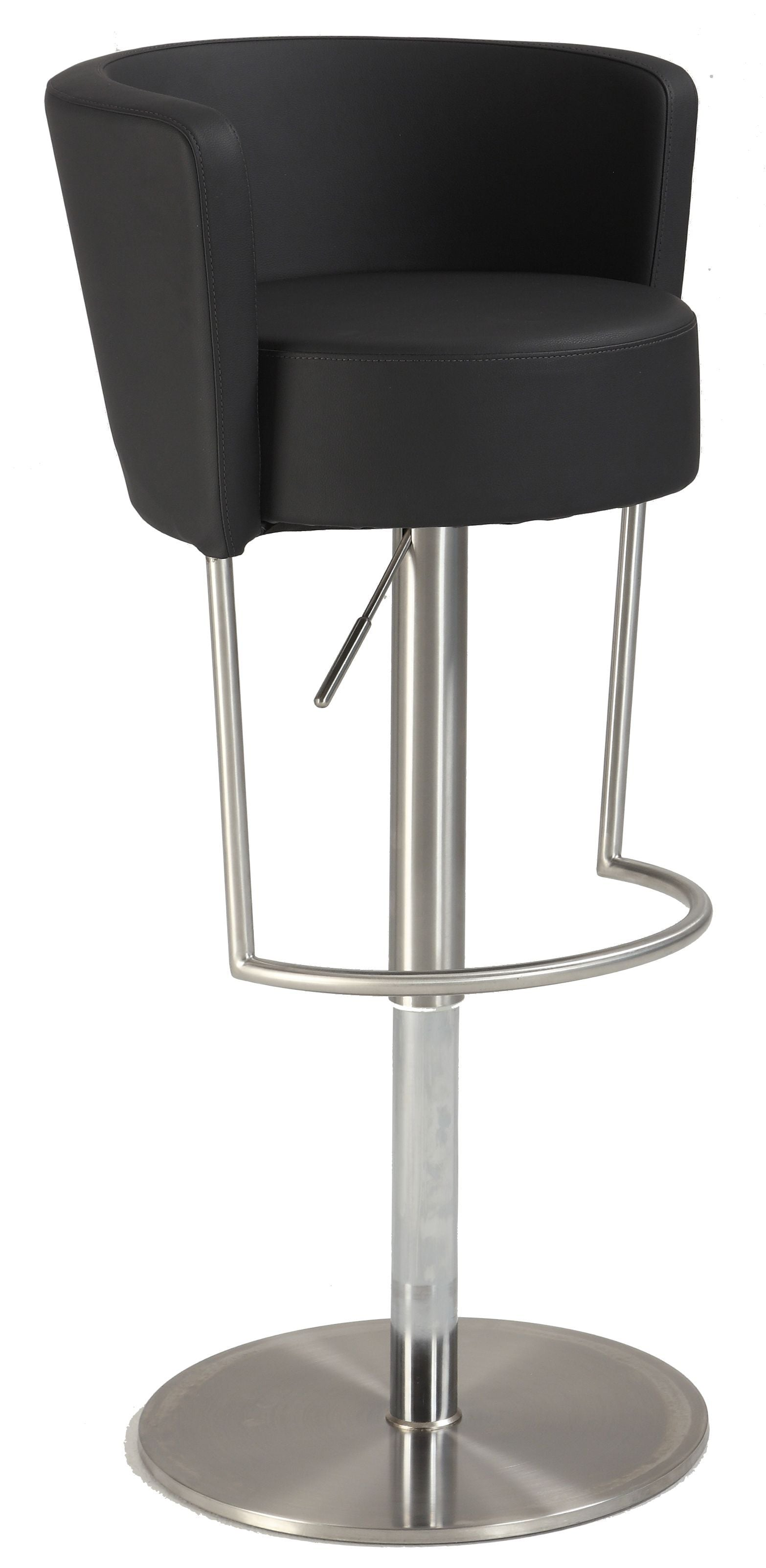 Chintaly 1640-AS-BLK Modern Pneumatic Gas Lift Swivel Stool from Chintaly