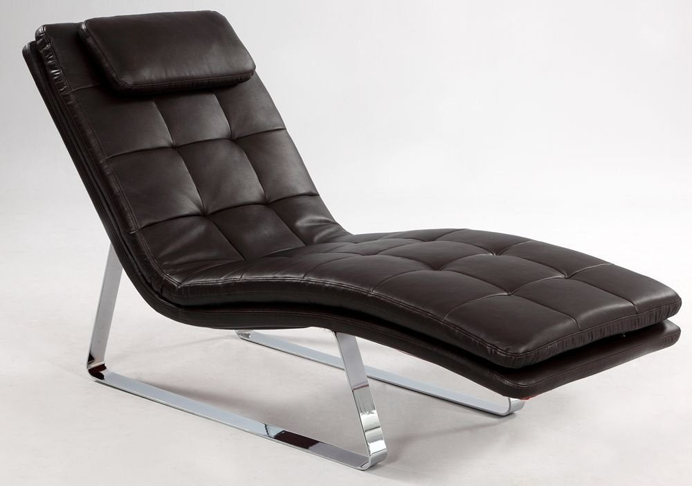 Chintaly CORVETTE-LNG-BRW Chaise Seat - Brown from Chintaly