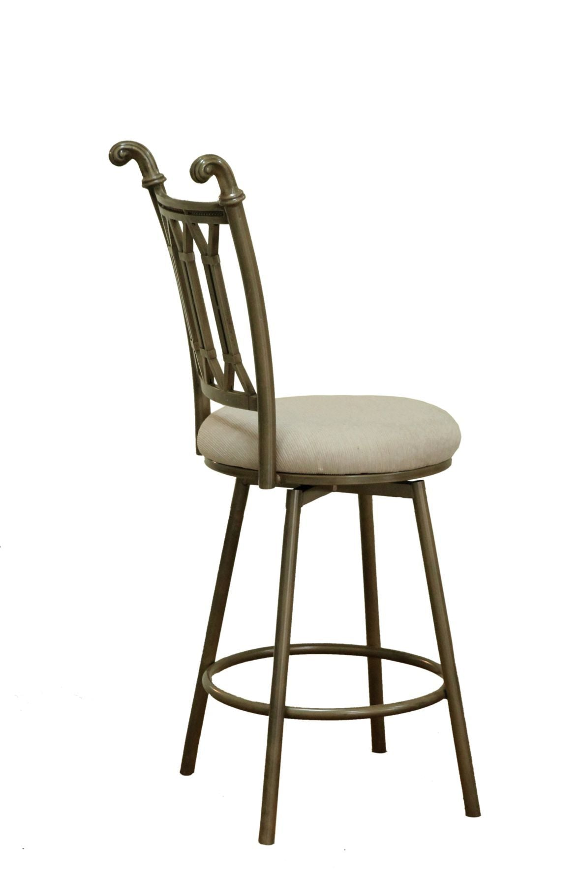 Chintaly DARCY-CS-BGE Hand Painted Bronze Bar Stool from Chintaly