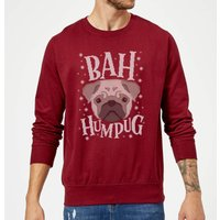 Bah Humpug Christmas Sweatshirt - Burgundy - XL - Burgundy from Christmas