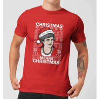 Christmas Means Christmas Men's Christmas T-Shirt - Red - L - Red from Christmas