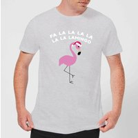 Fa La La La La La La Lamingo Men's Christmas T-Shirt - Grey - L - Grey from Christmas