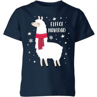Fleece Navidad Kids' Christmas T-Shirt - Navy - 9-10 Years - Navy from Christmas