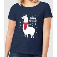 Fleece Navidad Women's Christmas T-Shirt - Navy - M - Navy from Christmas