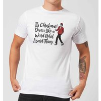 Its Christmas, Dance Like A Weird Robot Men's Christmas T-Shirt - White - L - White from Christmas