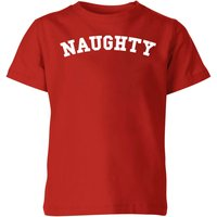 Naughty Kids' Christmas T-Shirt - Red - 7-8 Years - Red from Christmas