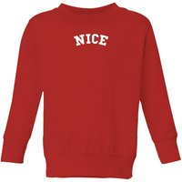 Nice Kids' Christmas Sweatshirt - Red - 11-12 Years - Red from Christmas