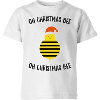 Oh Christmas Bee Oh Christmas Bee Kids' Christmas T-Shirt - White - 9-10 Years - White from Christmas