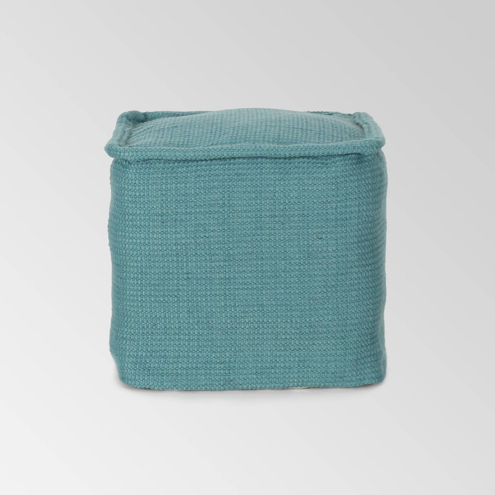 Cadence Boho Yarn Pouf Teal - Christopher Knight Home from Christopher Knight Home