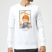 Chucky Good Guys Retro Sweatshirt - White - L - White from Chucky