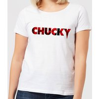 Chucky Logo Women's T-Shirt - White - L - White from Chucky