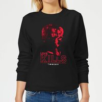 Chucky Love Kills Women's Sweatshirt - Black - S - Black from Chucky