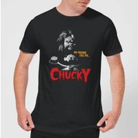 Chucky My Friends Call Me Chucky Men's T-Shirt - Black - L - Black from Chucky