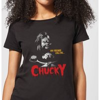 Chucky My Friends Call Me Chucky Women's T-Shirt - Black - L - Black from Chucky