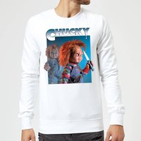 Chucky Nasty 90's Sweatshirt - White - M - White from Chucky