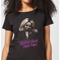 Chucky Tiffanys Have More Fun Women's T-Shirt - Black - L - Black from Chucky