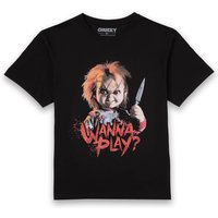 Chucky Wanna Play? Men's T-Shirt - Black - XXL - Black from Chucky