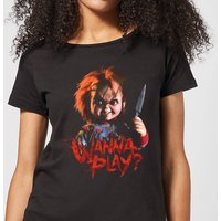 Chucky Wanna Play? Women's T-Shirt - Black - M - Black from Chucky