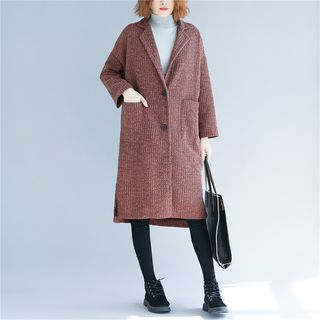 Buttoned Long Coat from Clover Dream