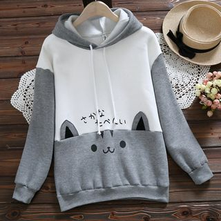 Cat Print Hoodie from Clover Dream