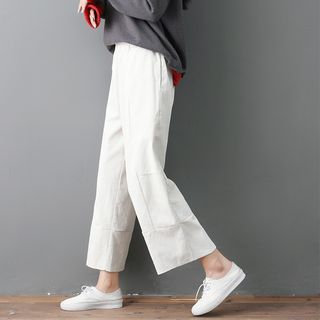 Corduroy Wide-Leg Cropped Pants from Clover Dream