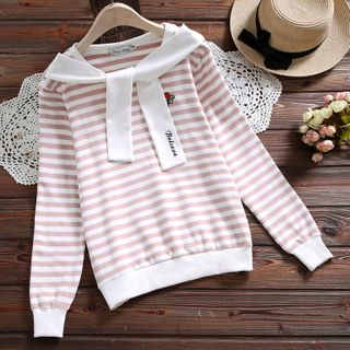 Embroidered Striped Pullover from Clover Dream
