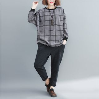 Plaid Sweatshirt from Clover Dream