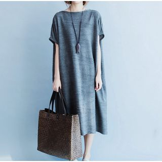 Ruched Midi T-Shirt Dress from Clover Dream