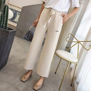 Drawstring Straight Cut Pants from Cobogarden