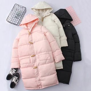 Hooded Padded Toggle Coat from Cobogarden