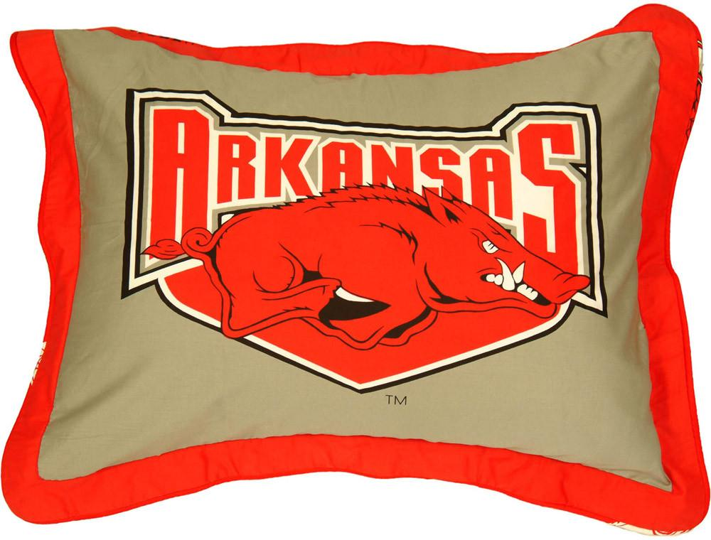 Arkansas Printed Pillow Sham - ARKSH by College Covers from College Covers