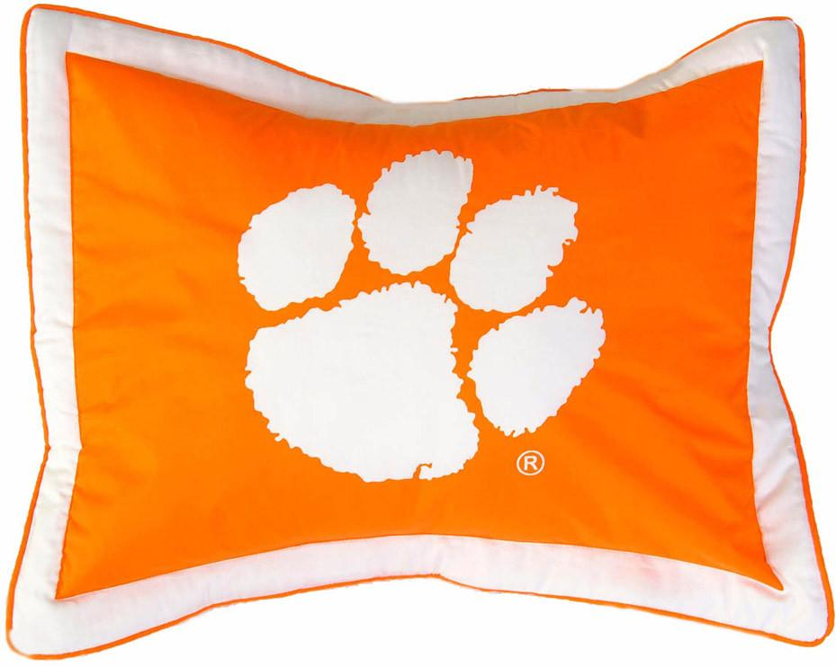 Clemson Printed Pillow Sham - CLESH by College Covers from College Covers
