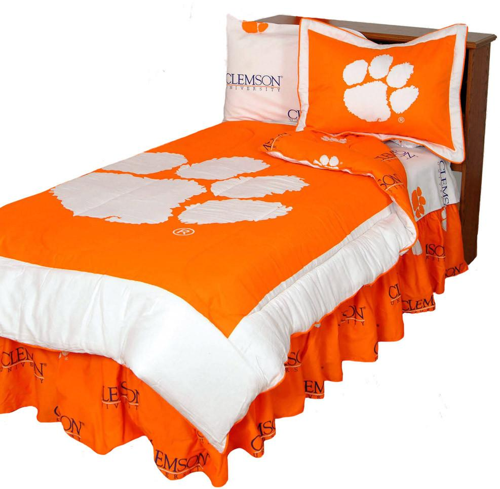 Clemson Reversible Comforter Set - Twin - CLECMTW by College Covers from College Covers