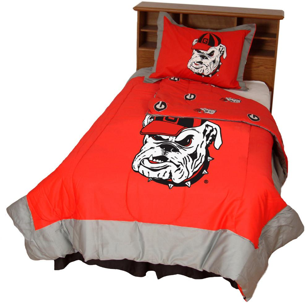 Georgia Reversible Comforter Set -Full - GEOCMFL by College Covers from College Covers