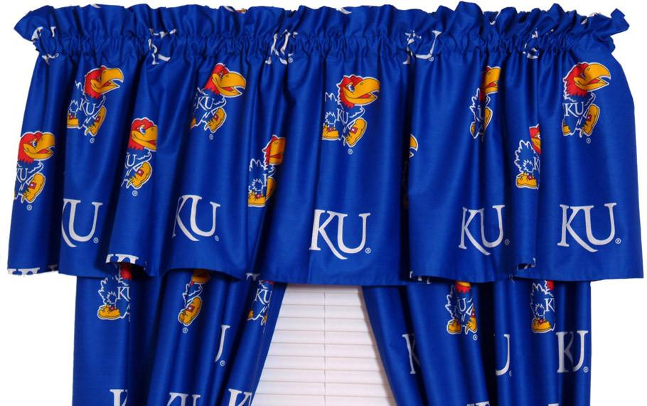 Kansas Printed Curtain Valance - 84 x 15 - KANCVL by College Covers from College Covers