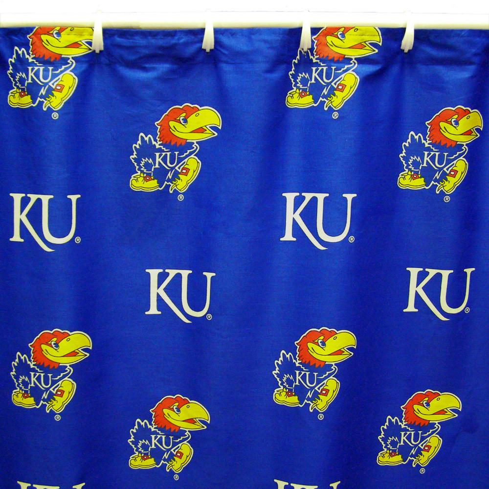 "Kansas Printed Shower Curtain Cover 70"" X 72"" - KANSC by College Covers from College Covers"