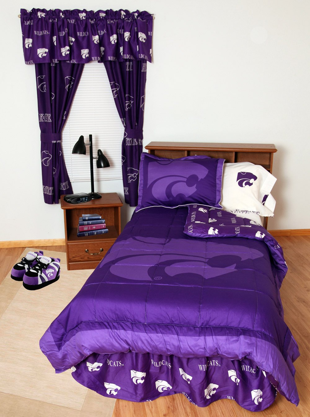 Kansas State Bed in a Bag Full - With White Sheets - KSUBBFLW by College Covers from College Covers