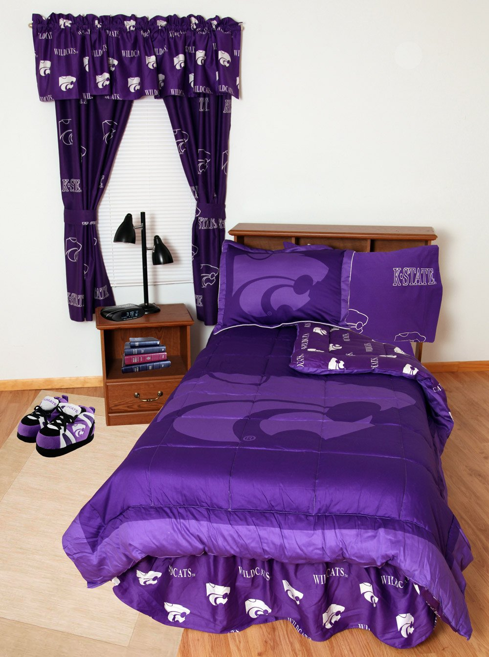 Kansas State Bed in a Bag King - With Team Colored Sheets - KSUBBKG by College Covers from College Covers