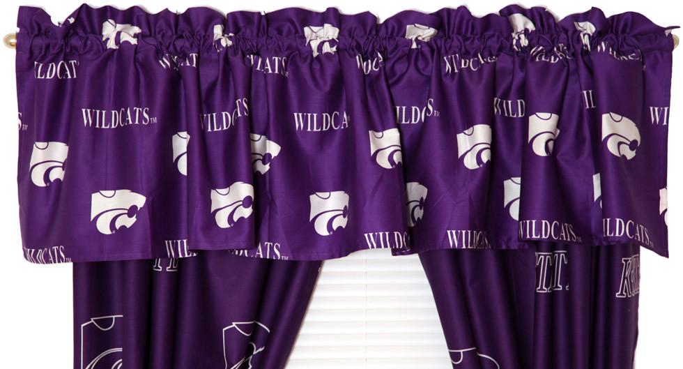 Kansas State Printed Curtain Valance - 84 x 15 - KSUCVL by College Covers from College Covers