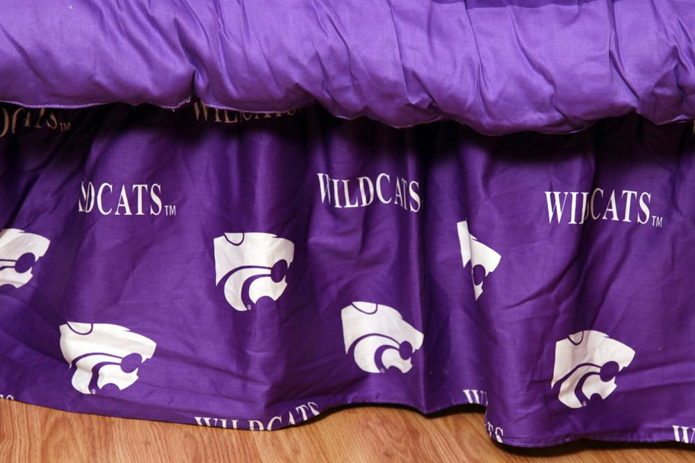 Kansas State Printed Dust Ruffle Twin - KSUDRTW by College Covers from College Covers