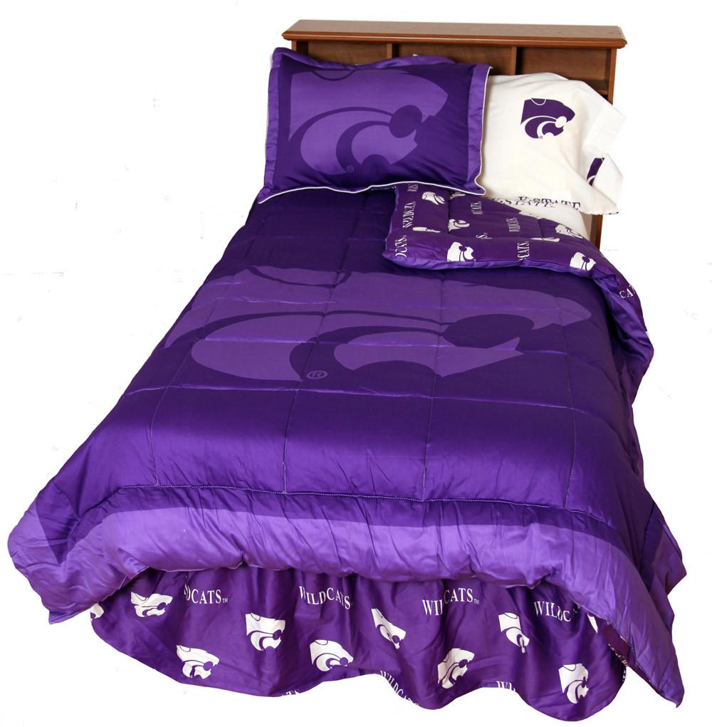 Kansas State Reversible Comforter Set - Twin - KSUCMTW by College Covers from College Covers