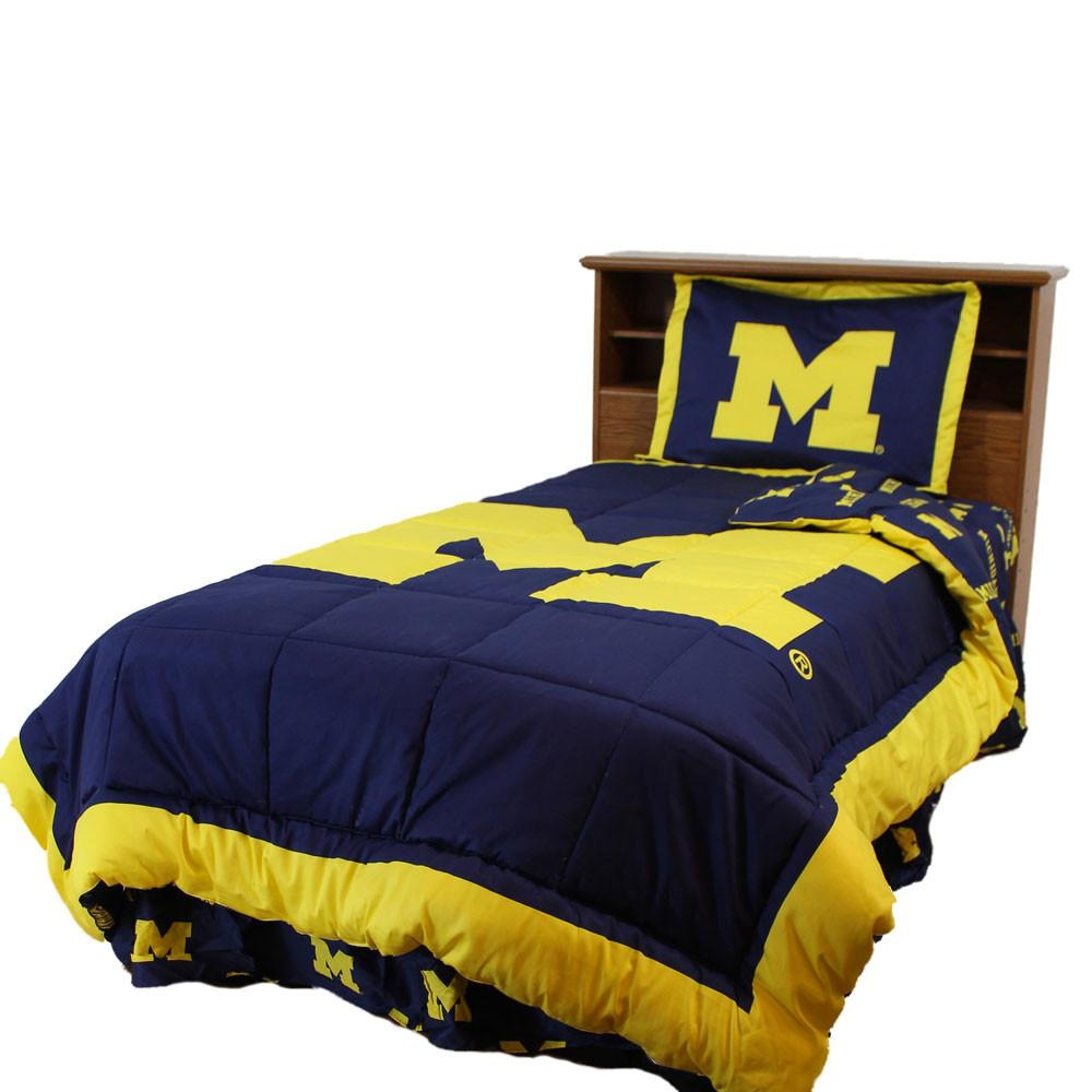 Michigan Reversible Comforter Set -King - MICCMKG by College Covers from College Covers