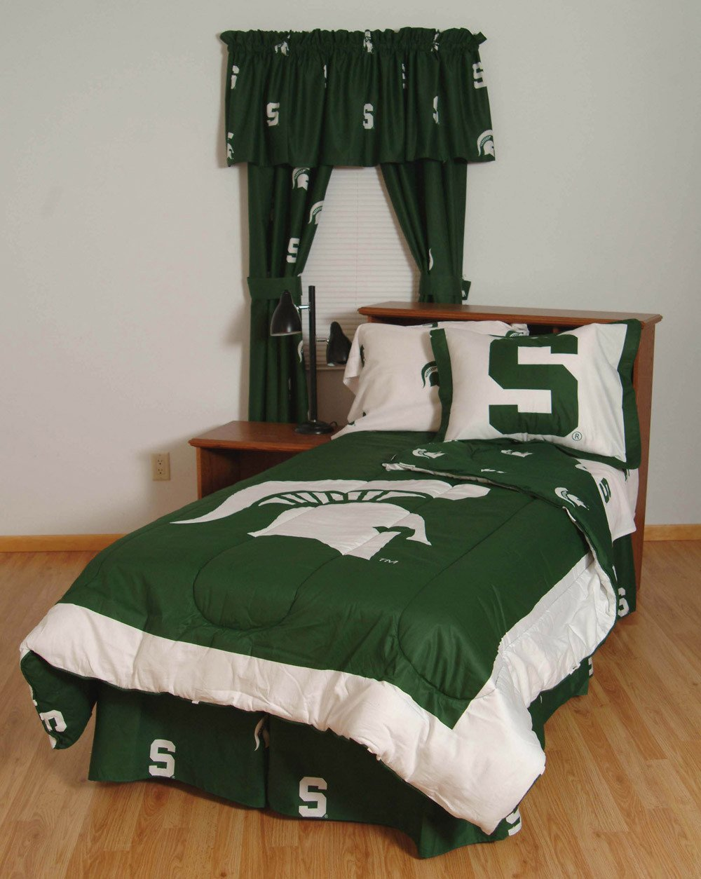 Michigan State Bed in a Bag Queen - With White Sheets - MSUBBQUW by College Covers from College Covers