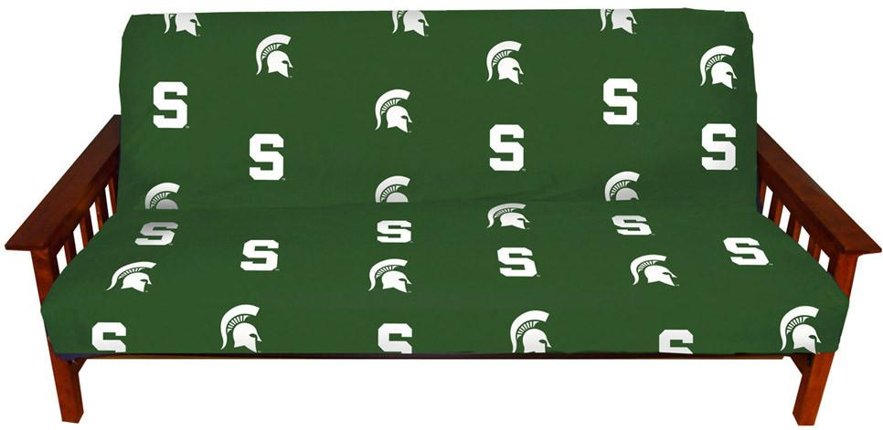 Michigan State Futon Cover - Full Size fits 8 and 10 inch mats - MSUFC by College Covers from College Covers