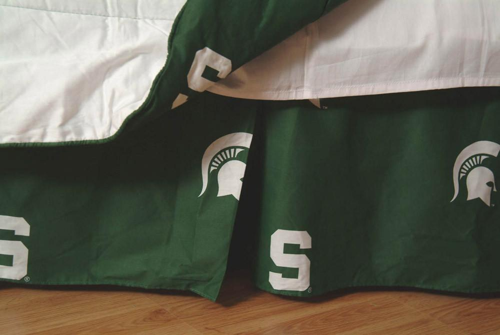 Michigan State Printed Dust Ruffle Full  - MSUDRFL by College Covers from College Covers