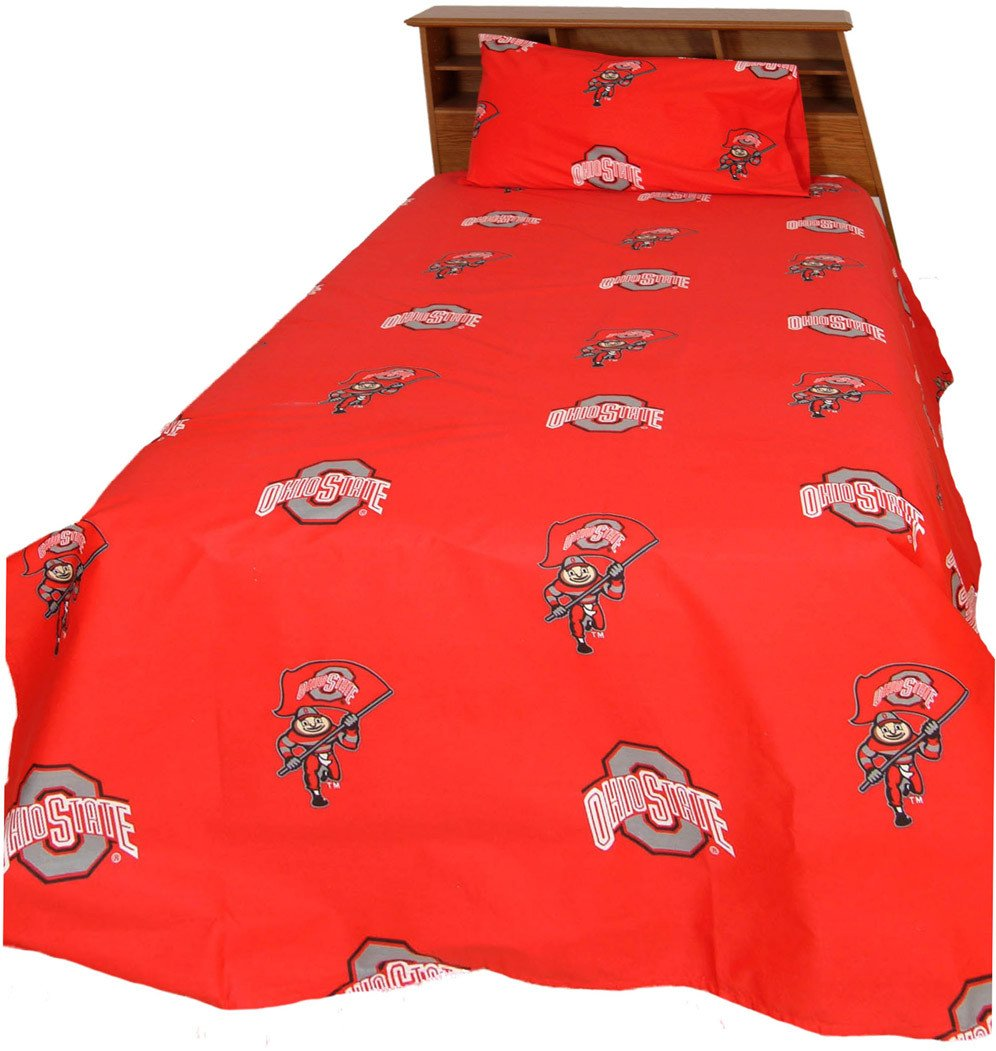 Ohio State Printed Sheet Set Queen - Solid - OHISSQU by College Covers from College Covers