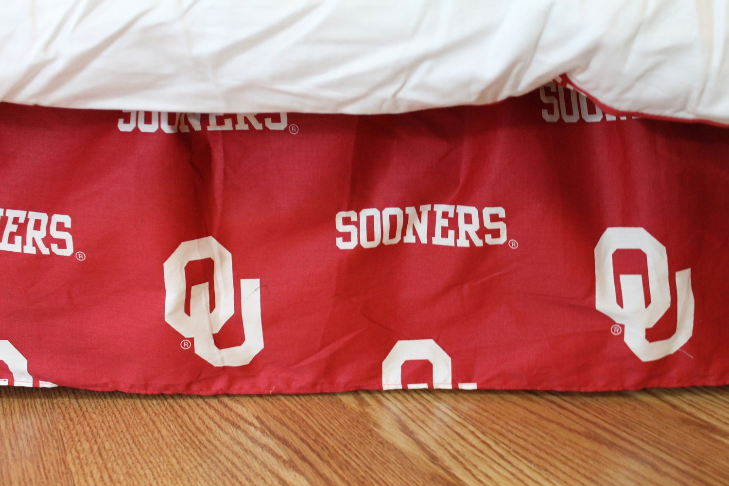 Oklahoma Printed Dust Ruffle Twin - OKLDRTW by College Covers from College Covers